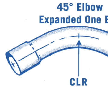 45° Steel Round Elbow Expanded One End