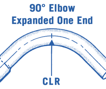 90° Round Steel Elbow Expanded One End