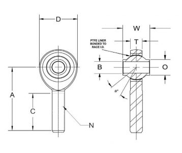 Rod End Diagram Hrsmx T