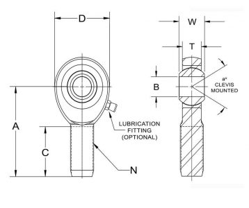 Rod End Diagram Male