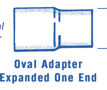Oval To Oval Steel Adapter