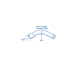 Oval to Round Steel Transition Bend