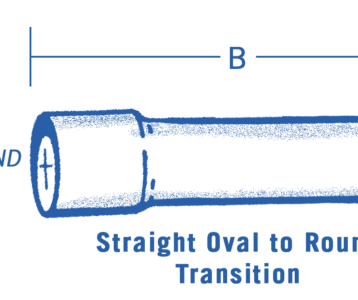 Straight Oval To Round Transition Steel