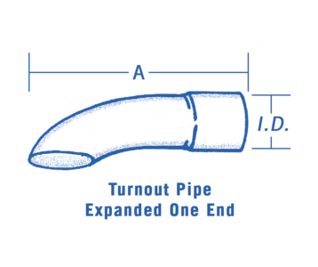 Round Turnout Steel Pipes Expanded Inlet