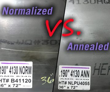 4130 Normalized vs. Annealed Sheet